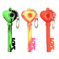 Key of Love Silicone Keychain Pipe | Wholesale Distributor