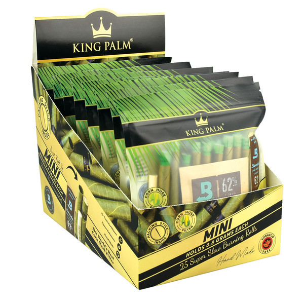 King Palm Hand Rolled Leaf - 25ct / Mini - AFG Distribution