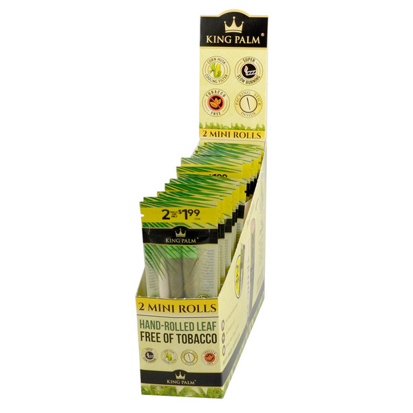 King Palm Hand Rolled Leaf | 2pk Mini | Natural | Wholesale