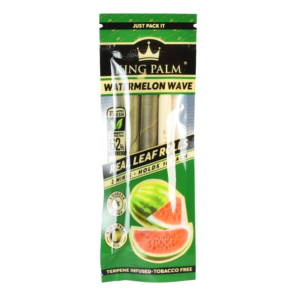 King Palm Hand Rolled Leaf | 2pk Mini | Watermelon | Wholesale