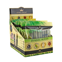 King Palm Pre-Roll Wraps - 25pk | King | 8pc Display