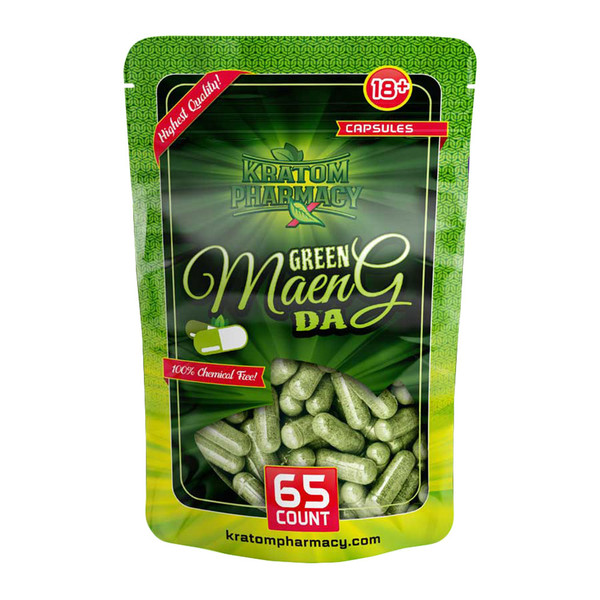 Kratom Pharmacy Capsules | Green Maeng Da | Distributor