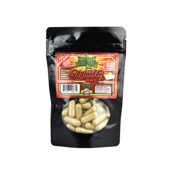 Kratom Pharmacy Capsules | Red Maeng Da | Distributor