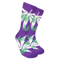 Leaf Republic Socks | Green Purple | Wholesale