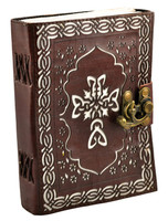 "Leather Journal w/ Clasp - Celtic Cross | 5""x7"""