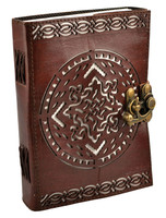 "Leather Journal w/ Clasp - Celtic Knot | 5""x7"""
