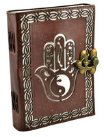 "Leather Journal w/ Clasp - Hamsa Hand | 5""x7"""
