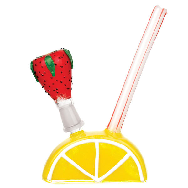 Lemon Strawberry Water Pipe - 7"
