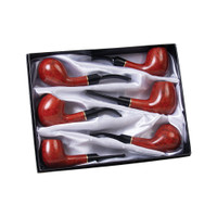 Lucienne Briarwood Tobacco Pipe | Cherry Stain | Wholesale Distributor