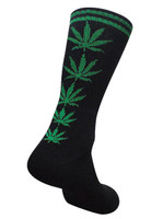 Mad Toro Socks | Hemp Leaf Ladder | Black Green