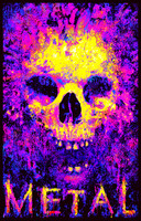 "Metal Skull Blacklight Poster - 23""x35"""