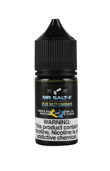 Mr. Salt-E Nic Salts - Blue Razz Lemonade - 45mg / 30ml - AFG Dist