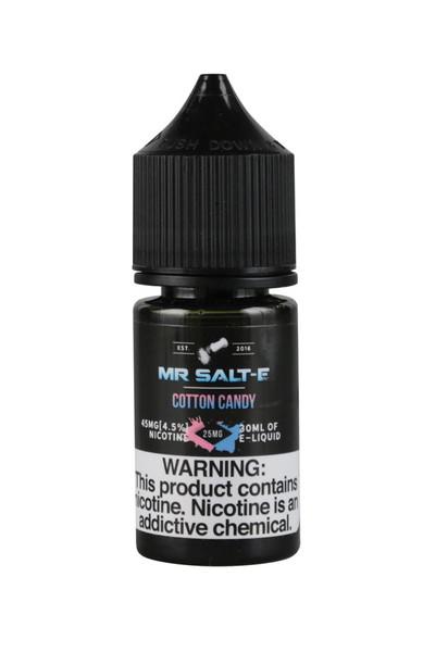 Mr. Salt-E Nic Salts - Cotton Candy - 25mg / 30ml - AFG Dist