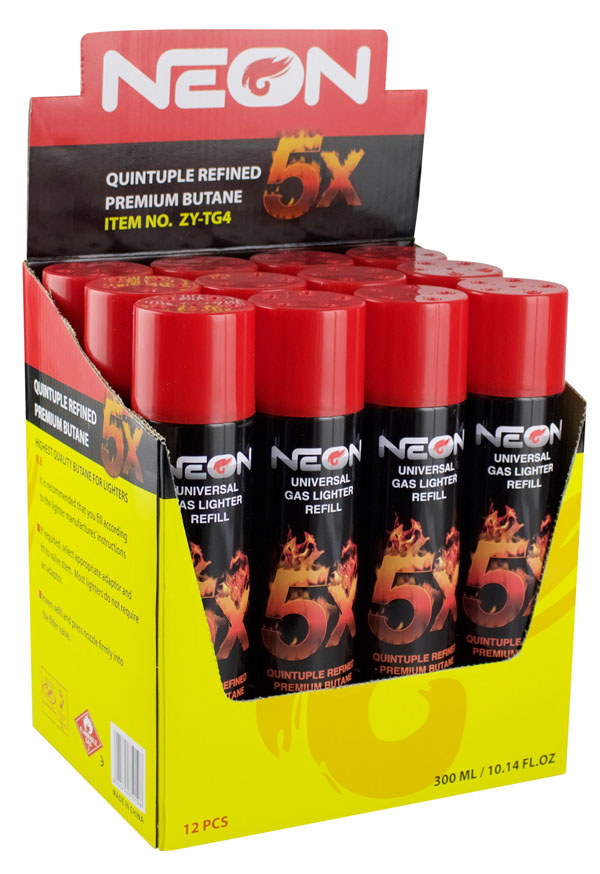 NEON Butane - 5x / 300ml - 12pc Display