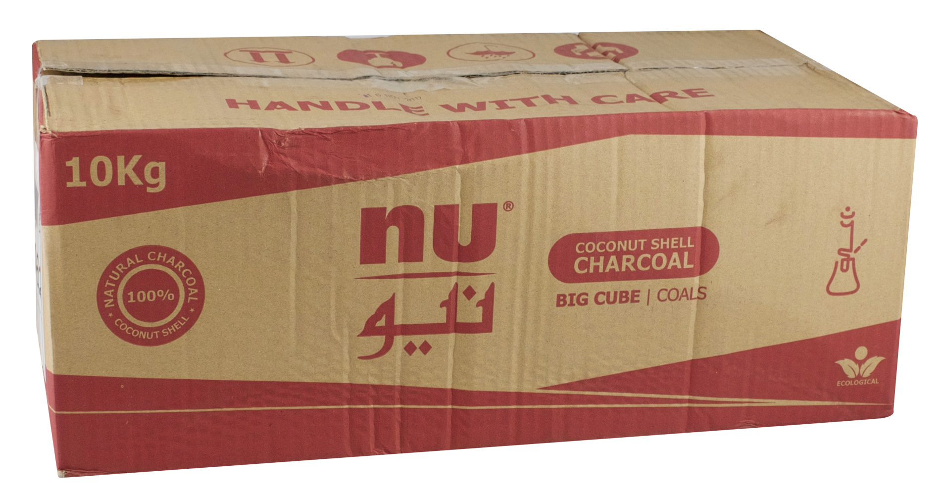 NU Big Cube Hookah Charcoal - 10kg Box - AFG Distribution