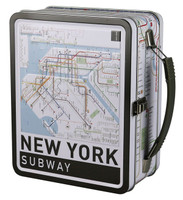 "New York Subway Map Lunch Box - 8.5"" x 6.75"""