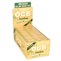 OCB Bamboo Rolling Papers with Tips | 1 1/4 | Wholesale Distributor