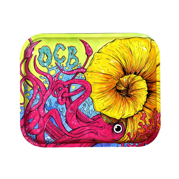 OCB Limited Edition Metal Rolling Tray | Cephalopod | Large | Wholesale