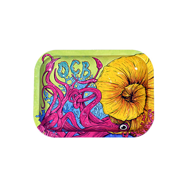 OCB Limited Edition Metal Rolling Tray | Cephalopod | Small | Wholesale