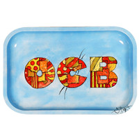 OCB Limited Edition Metal Rolling Tray | Patchwork | Medium | Wholesale