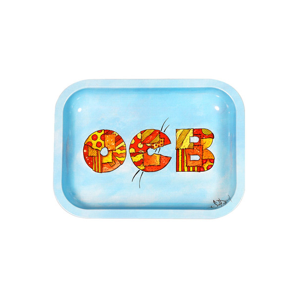 OCB Limited Edition Metal Rolling Tray | Patchwork | Small | Wholesale