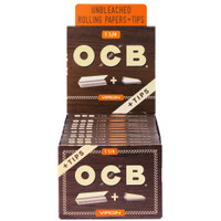 OCB Virgin Unbleached Papers w/ Tips | 1 1/4 | Wholesale Distributor