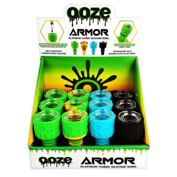 Ooze Armor Silicone Glass Bowl Display | Wholesale Distributor