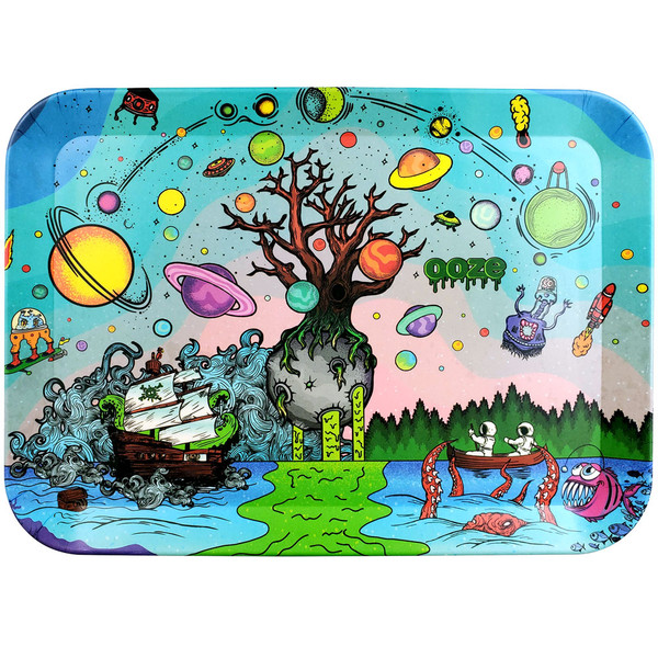 Ooze Biodegradable Rolling Tray | Tree of Life | Large | Wholesale
