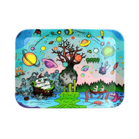 Ooze Biodegradable Rolling Tray | Tree of Life | Medium | Wholesale
