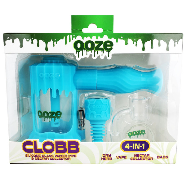 Ooze Clobb Silicone Glass 4-in-1 Water Pipe | Wholesale Distributor