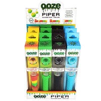 Ooze Piper 2-in-1 Silicone Pipe + Chillum Display | Wholesale Distributor