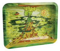"Ooze Rolling Tray - Erupted / 10""x7.75"" / Medium"