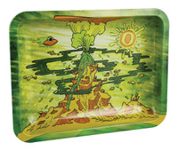 "Ooze Rolling Tray - Erupted / 7""x5"" / Small"