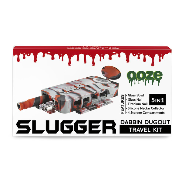 Ooze Slugger Dabbin Dugout Travel Kit | Wholesale | Black Red