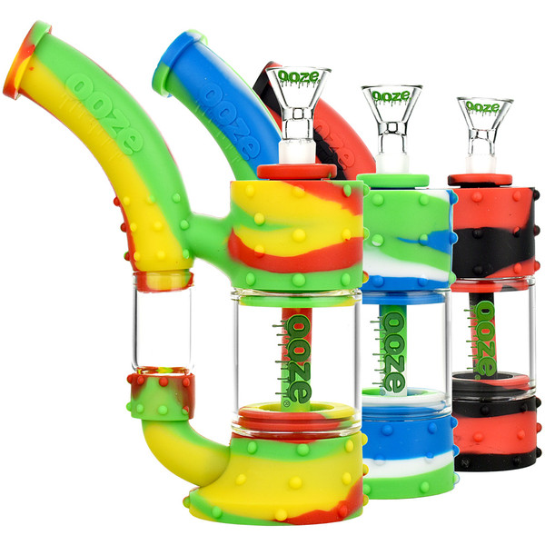 Ooze Stack Silicone Water Pipe | Assorted | Master Distributor