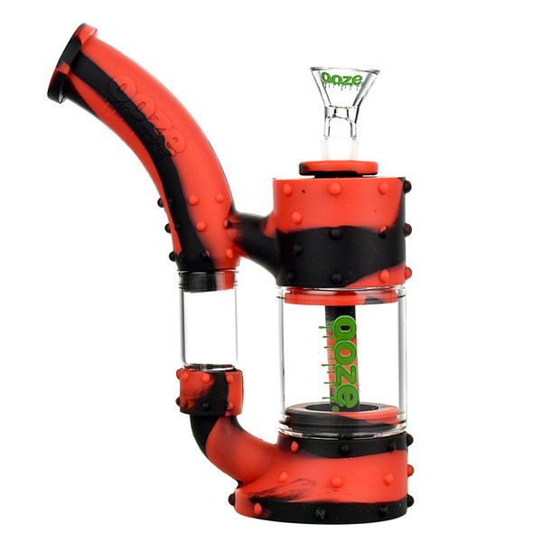 Ooze Stack Silicone Water Pipe | Black Red | Master Distributor
