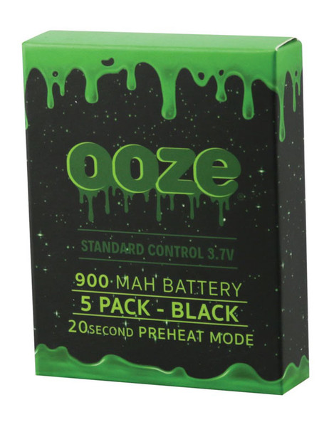 "Ooze Standard Batteries - 3.75"" / 900mAh / Black / 5pc"