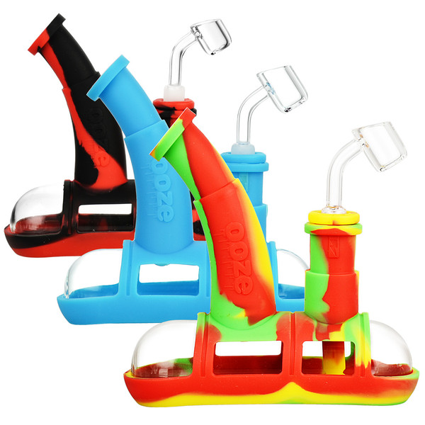 Ooze Steamboat Silicone Water Pipe | Assorted | Master Distributor
