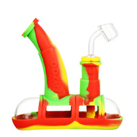 Ooze Steamboat Silicone Water Pipe | Rasta | Master Distributor