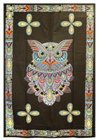 Owl Tapestry - 54x86 / Multi Colors - AFG Distribution