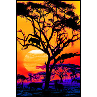Panther Pride Non-Flocked Blacklight Poster | Wholesale Distributor