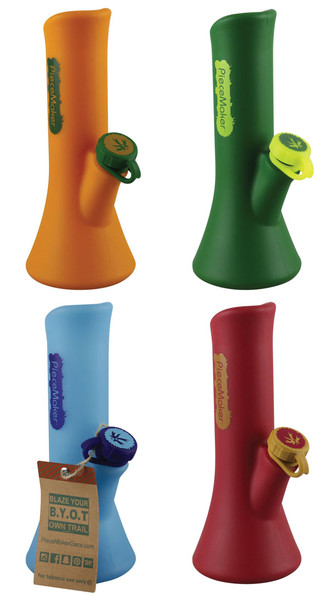 "Piecemaker KaliGo Silicone Waterpipe - 8.5"" / Asst Colors"