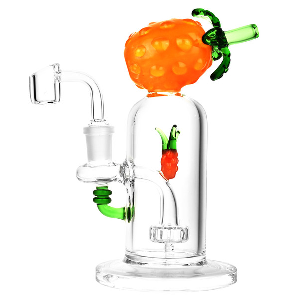 Pineapple Oil Rig | 14mm Female | Orange | Distributor