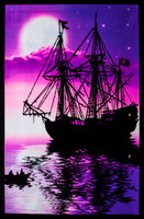 "Pirate Ship Blacklight Poster - 23""X35"""