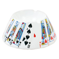 Playing Card Ceramic Round Ashtray | Wholesale Distributor