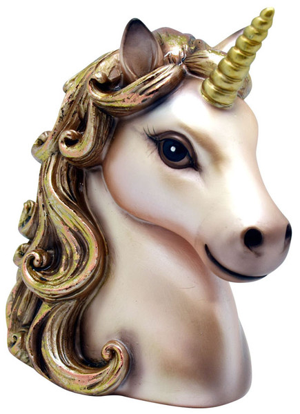 Polyresin Unicorn Bank - 5.5 / Pink & Gold - AFG Dist