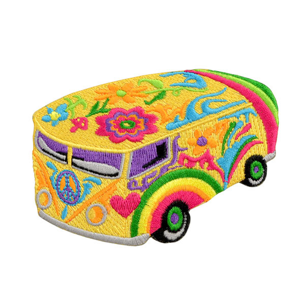 "Psychedelic Bus Patch - 3.7""x2.5"""