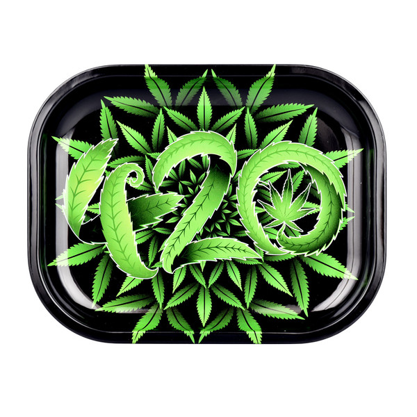 Puff Puff Pass Rolling Tray | Small 420 Design | Wholesale Distributor