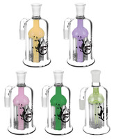 Pulsar 8 Arm Ash Catcher - 14mm Male / Assorted Colors