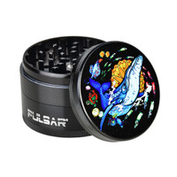 Pulsar Artist Series Metal Grinder | Psychedelic Whale | Wholesale